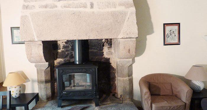 cheminée coscro gites - bretagne